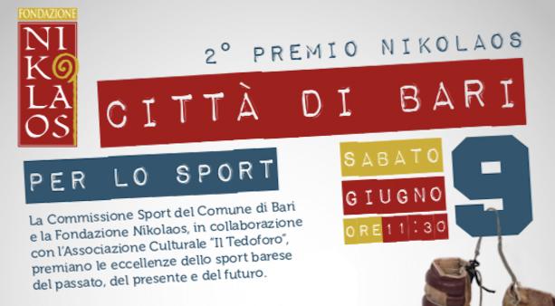 2^ Premio Nikolaos Città di Bari per lo Sport