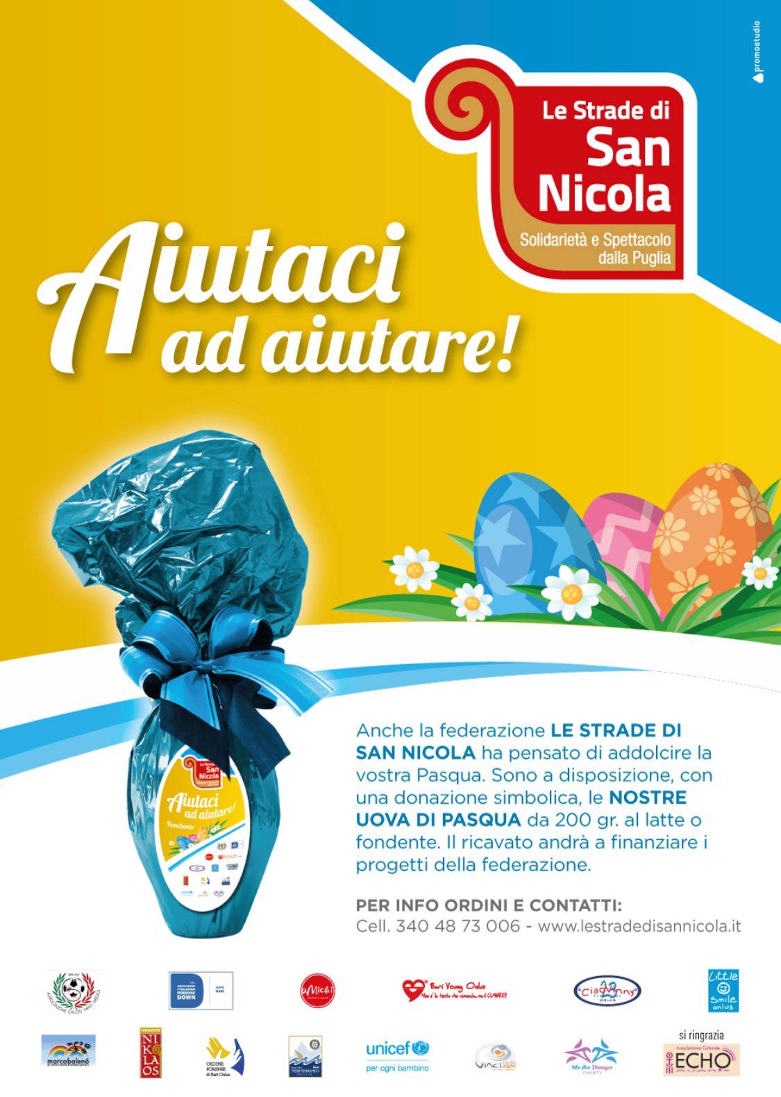 """Fondazione Nikolaos per """"Le Strade di San Nicola"""": aiutaci ad aiutare!"""